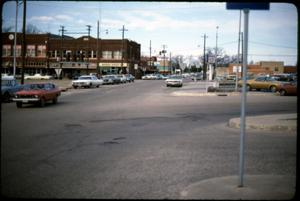 Primary view of object titled '[Downtown Street Scene, Marshall]'.