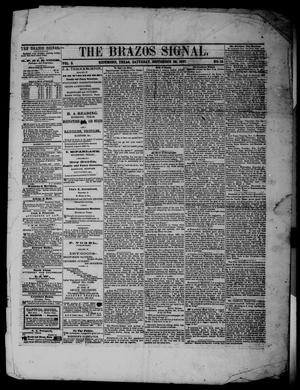 Primary view of object titled 'The Brazos Signal (Richmond, Tex.), Vol. 2, No. 18, Ed. 1 Saturday, September 28, 1867'.