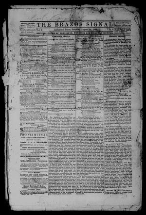 Primary view of object titled 'The Brazos Signal (Richmond, Tex.), Vol. 3, No. 6, Ed. 1 Saturday, August 1, 1868'.