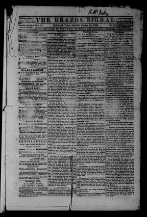 The Brazos Signal (Richmond, Tex.), Vol. 3, No. 18, Ed. 1 Saturday, October 24, 1868