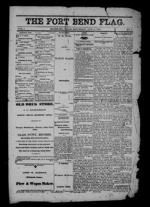 The Fort Bend Flag. (Richmond, Tex.), Vol. 1, No. 3, Ed. 1 Saturday, August 11, 1877