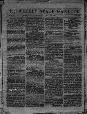 Primary view of object titled 'Tri-Weekly State Gazette. (Austin, Tex.), Vol. 1, No. 120, Ed. 1 Thursday, July 16, 1863'.