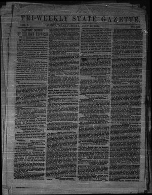 Primary view of object titled 'Tri-Weekly State Gazette. (Austin, Tex.), Vol. 1, No. 125, Ed. 1 Tuesday, July 28, 1863'.