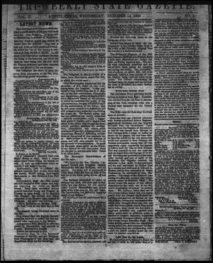 Primary view of object titled 'Tri-Weekly State Gazette. (Austin, Tex.), Vol. 2, No. 1, Ed. 1 Wednesday, October 14, 1863'.