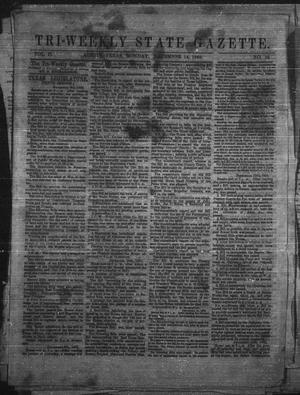 Primary view of Tri-Weekly State Gazette. (Austin, Tex.), Vol. 2, No. 26, Ed. 1 Monday, December 14, 1863