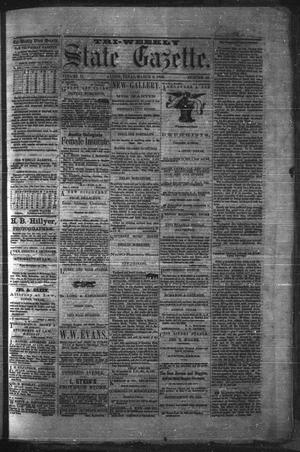 Primary view of object titled 'Tri-Weekly State Gazette. (Austin, Tex.), Vol. 2, No. 42, Ed. 1 Monday, March 8, 1869'.