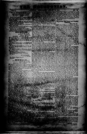 Primary view of object titled 'The Houstonian. (Houston, Tex.), Vol. 1, No. 70, Ed. 1 Wednesday, August 18, 1841'.