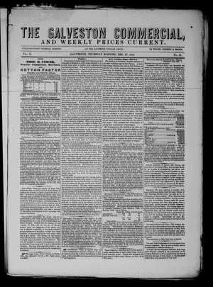 Primary view of The Galveston Commercial, And Weekly Prices Current. (Galveston, Tex.), Vol. 2, No. 11, Ed. 1 Thursday, December 27, 1855
