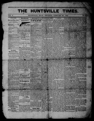 The Huntsville Times (Huntsville, Tex.), Vol. 2, No. 29, Ed. 1 Saturday, February 29, 1868