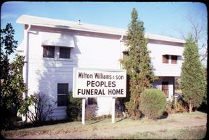 Primary view of object titled '[Peoples Funeral Home, Marshall]'.