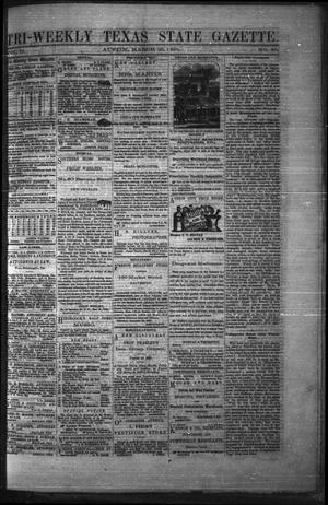 Primary view of object titled 'Tri-Weekly Texas State Gazette. (Austin, Tex.), Vol. 2, No. 50, Ed. 1 Friday, March 26, 1869'.