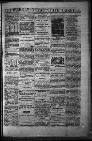 Primary view of object titled 'Tri-Weekly Texas State Gazette. (Austin, Tex.), Vol. 2, No. 53, Ed. 1 Friday, April 2, 1869'.