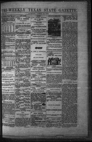 Primary view of object titled 'Tri-Weekly Texas State Gazette. (Austin, Tex.), Vol. 2, No. 60, Ed. 1 Monday, April 19, 1869'.