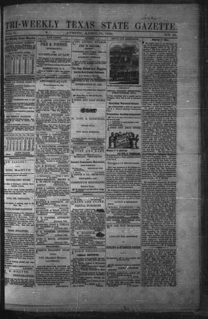 Primary view of object titled 'Tri-Weekly Texas State Gazette. (Austin, Tex.), Vol. 2, No. 61, Ed. 1 Wednesday, April 21, 1869'.