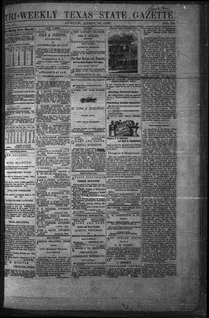 Primary view of object titled 'Tri-Weekly Texas State Gazette. (Austin, Tex.), Vol. 2, No. 63, Ed. 1 Monday, April 26, 1869'.