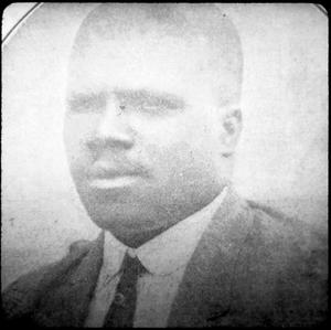 Primary view of object titled '[African-American Man in Harrison County]'.