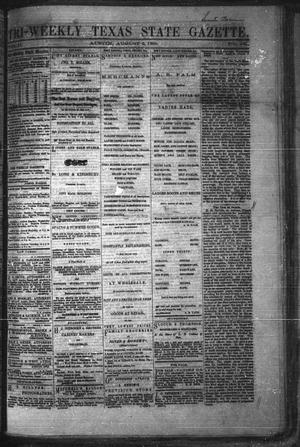 Primary view of object titled 'Tri-Weekly Texas State Gazette. (Austin, Tex.), Vol. 2, No. 105, Ed. 1 Monday, August 2, 1869'.