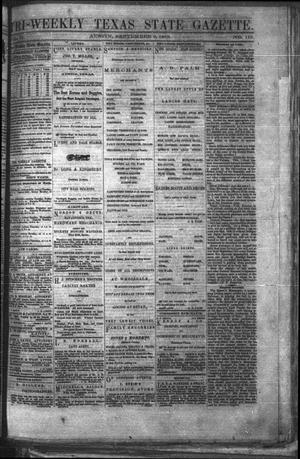 Primary view of Tri-Weekly Texas State Gazette. (Austin, Tex.), Vol. 2, No. 119, Ed. 1 Friday, September 3, 1869