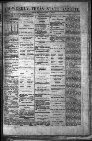 Primary view of object titled 'Tri-Weekly Texas State Gazette. (Austin, Tex.), Vol. 2, No. 122, Ed. 1 Friday, September 10, 1869'.