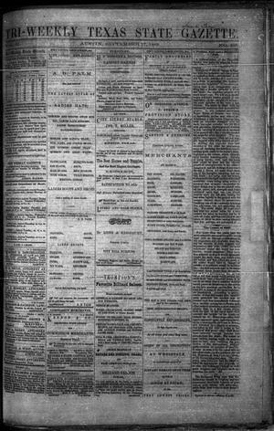 Primary view of object titled 'Tri-Weekly Texas State Gazette. (Austin, Tex.), Vol. 2, No. 125, Ed. 1 Friday, September 17, 1869'.