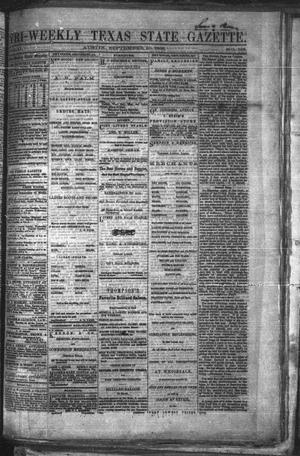 Primary view of object titled 'Tri-Weekly Texas State Gazette. (Austin, Tex.), Vol. 2, No. 126, Ed. 1 Monday, September 20, 1869'.