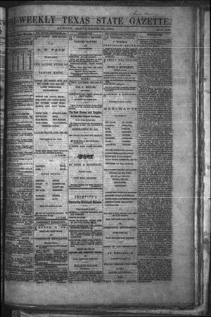 Primary view of object titled 'Tri-Weekly Texas State Gazette. (Austin, Tex.), Vol. 2, No. 128, Ed. 1 Friday, September 24, 1869'.