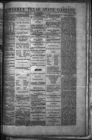 Tri-Weekly Texas State Gazette. (Austin, Tex.), Vol. 2, No. 130, Ed. 1 Wednesday, September 29, 1869
