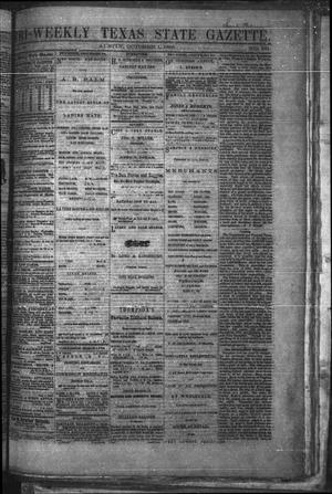 Primary view of object titled 'Tri-Weekly Texas State Gazette. (Austin, Tex.), Vol. 2, No. 131, Ed. 1 Friday, October 1, 1869'.