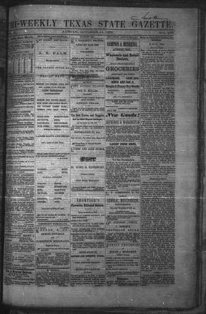 Primary view of object titled 'Tri-Weekly Texas State Gazette. (Austin, Tex.), Vol. 2, No. 135, Ed. 1 Monday, October 11, 1869'.