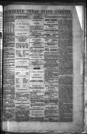 Primary view of object titled 'Tri-Weekly Texas State Gazette. (Austin, Tex.), Vol. 2, No. 136, Ed. 1 Wednesday, October 13, 1869'.