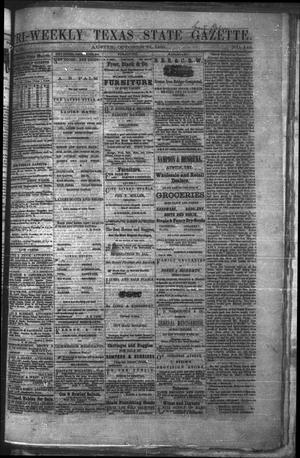 Primary view of object titled 'Tri-Weekly Texas State Gazette. (Austin, Tex.), Vol. 2, No. 142, Ed. 1 Wednesday, October 27, 1869'.