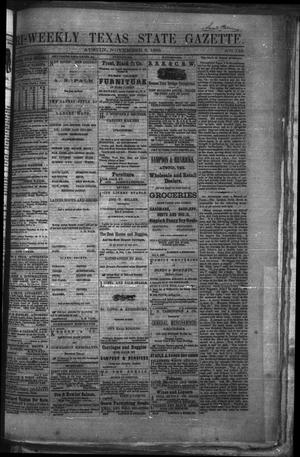 Primary view of object titled 'Tri-Weekly Texas State Gazette. (Austin, Tex.), Vol. 2, No. 145, Ed. 1 Wednesday, November 3, 1869'.
