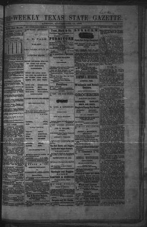 Primary view of object titled 'Tri-Weekly Texas State Gazette. (Austin, Tex.), Vol. 2, No. 149, Ed. 1 Friday, November 12, 1869'.