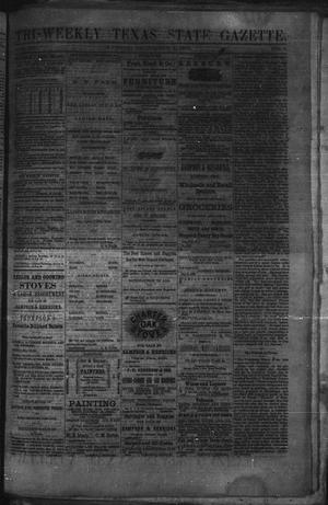 Primary view of object titled 'Tri-Weekly Texas State Gazette. (Austin, Tex.), Vol. 3, No. 1, Ed. 1 Wednesday, December 1, 1869'.