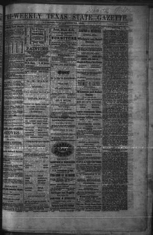Primary view of object titled 'Tri-Weekly Texas State Gazette. (Austin, Tex.), Vol. 3, No. 11, Ed. 1 Friday, December 24, 1869'.