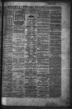 Primary view of object titled 'Tri-Weekly Texas State Gazette. (Austin, Tex.), Vol. 3, No. 16, Ed. 1 Monday, January 10, 1870'.