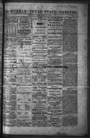Primary view of object titled 'Tri-Weekly Texas State Gazette. (Austin, Tex.), Vol. 3, No. 18, Ed. 1 Friday, January 14, 1870'.