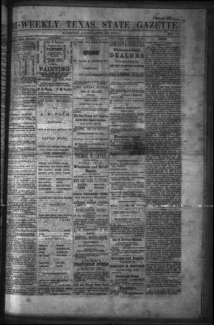 Primary view of object titled 'Tri-Weekly Texas State Gazette. (Austin, Tex.), Vol. 3, No. 19, Ed. 1 Monday, January 17, 1870'.