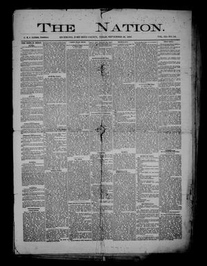 Primary view of object titled 'The Nation. (Richmond, Tex.), Vol. 3, No. 12, Ed. 1 Friday, September 28, 1883'.