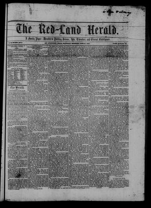 Primary view of object titled 'The Red-Land Herald. (San Augustine, Tex.), Vol. 2, No. 17, Ed. 1 Saturday, June 21, 1851'.