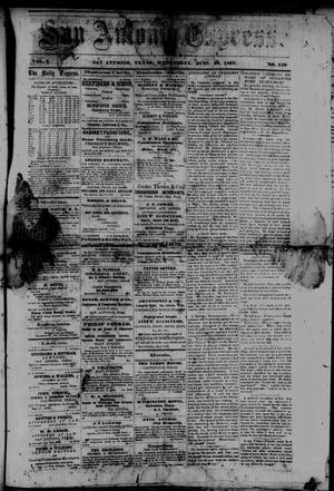 San Antonio Express. (San Antonio, Tex.), Vol. 1, No. 159, Ed. 1 Wednesday, June 19, 1867