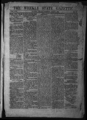 Primary view of object titled 'The Weekly State Gazette. (Austin, Tex.), Vol. 16, No. 45, Ed. 1 Tuesday, July 4, 1865'.