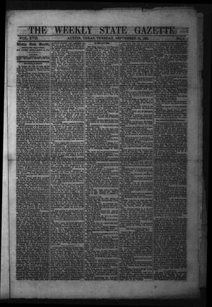 Primary view of object titled 'The Weekly State Gazette. (Austin, Tex.), Vol. 17, No. 3, Ed. 1 Tuesday, September 12, 1865'.