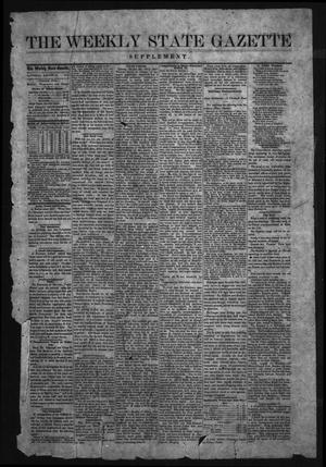 Primary view of object titled 'Weekly State Gazette. (Austin, Tex.), Ed. 1 Saturday, August 27, 1870'.