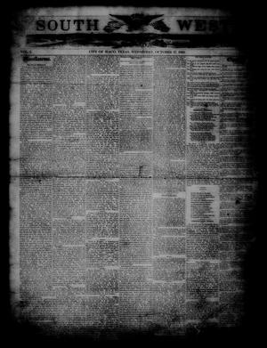 South West. (Waco, Tex.), Vol. 1, Ed. 1 Wednesday, October 17, 1860