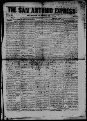 The San Antonio Express. (San Antonio, Tex.), Vol. 2, No. 3, Ed. 1 Thursday, October 11, 1866