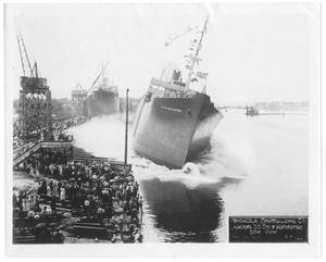 "[Pensacola Ship Building Co. launching the S. S. ""City of Weatherford"" #3]"