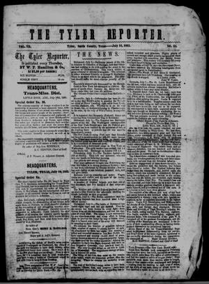 Primary view of object titled 'The Tyler Reporter. Weekly. (Tyler, Tex.), Vol. 7, No. 34, Ed. 1 Thursday, July 24, 1862'.