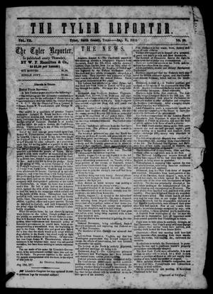 Primary view of object titled 'The Tyler Reporter. Weekly. (Tyler, Tex.), Vol. 7, No. 39, Ed. 1 Thursday, August 21, 1862'.
