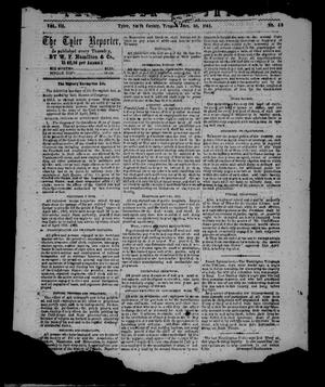 Primary view of object titled 'The Tyler Reporter. Weekly. (Tyler, Tex.), Vol. 7, No. 49, Ed. 1 Thursday, October 30, 1862'.